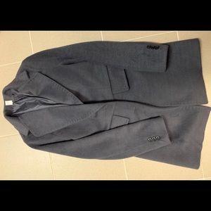 Grey furry fuzzy coat size xxs - xs